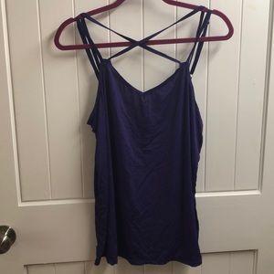 Beyond Yoga purple work out shirt.